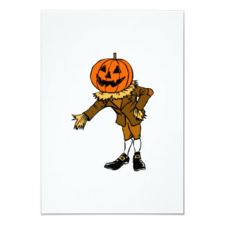 "Halloween Pumpkin Head 3.5"" X 5"" Invitation Card"