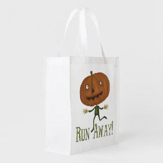 Halloween Pumpkin Head Market Tote