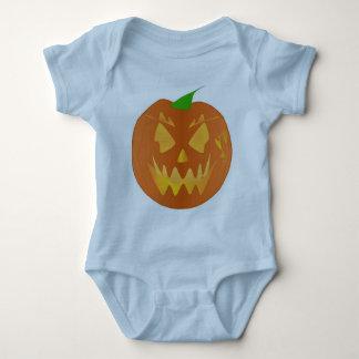 Halloween Pumpkin In Light Blue Baby Bodysuit