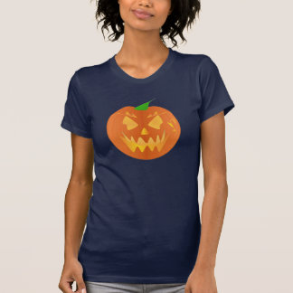 Halloween Pumpkin In Navy Blue Tee Shirts
