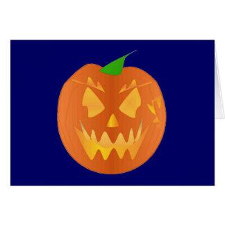 Halloween Pumpkin In Navy Cards