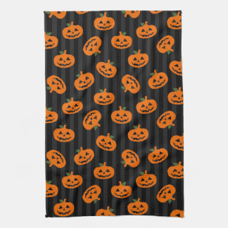 Halloween Pumpkin Pattern Tea Towel