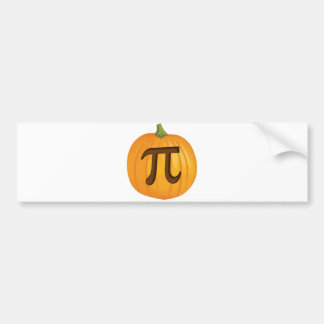 Halloween Pumpkin Pie Pi Bumper Sticker