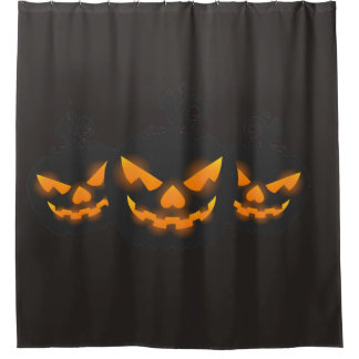 Halloween Pumpkin Spooky head Shower Curtain