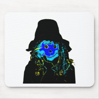 Halloween Scarecrow Blue The MUSEUM Zazzle Gifts Mouse Pad