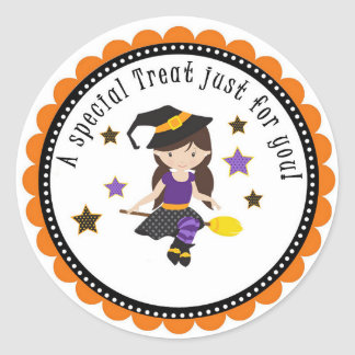 Halloween School Treat Party Gift Tag Stickers