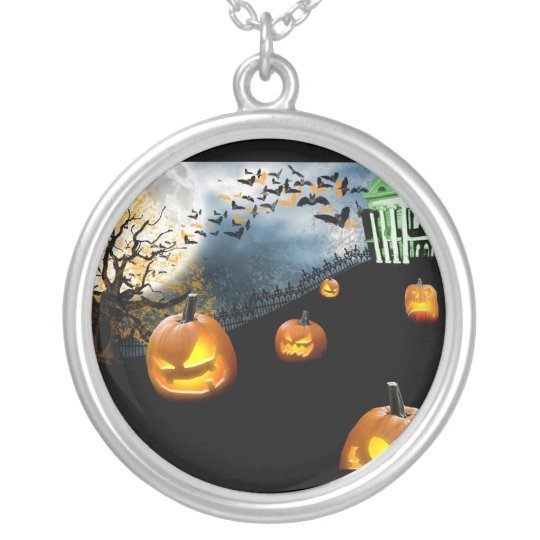 Halloween Silver Plated Necklace