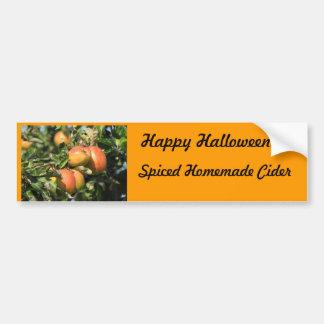 Halloween Spiced Cider Label Car Bumper Sticker