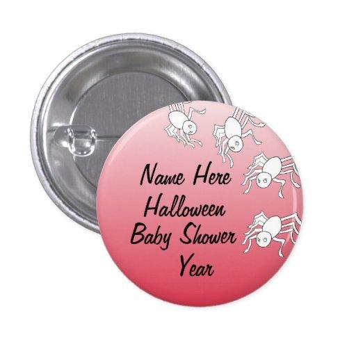 Halloween Spider Baby Shower Buttons