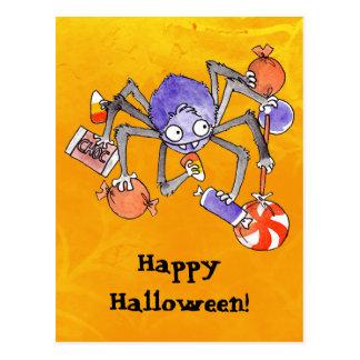 Halloween Spider Postcard