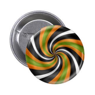 Halloween swirl candy 6 cm round badge