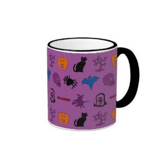 Halloween themed pattern mugs