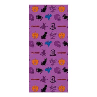 Halloween themed pattern personalised rack card