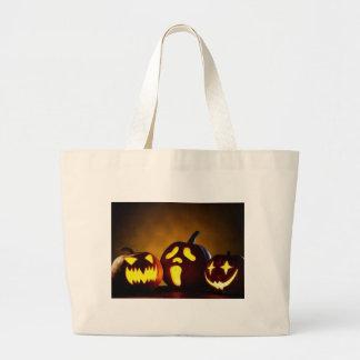 Halloween Three Pumpkin Heads Bag