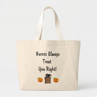 Halloween Treat For Nurses Tote Bags
