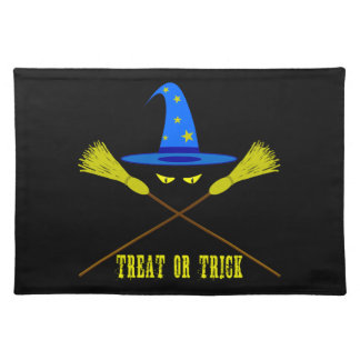 Halloween Treat Or Trick Black Placemat