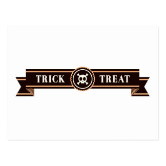 Halloween Trick O Treat Postcard