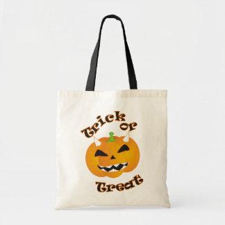 Halloween Trick or Treat Bag with Pumpkin Devil