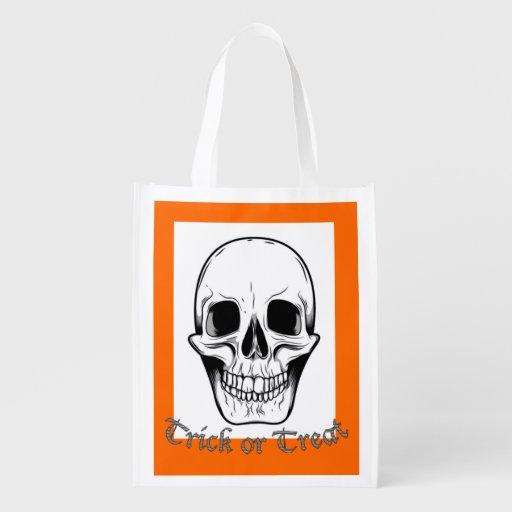 Halloween Trick Or Treat Bag. Reusable Grocery Bag