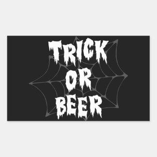 Halloween Trick Or Treat Beer Rectangle Stickers