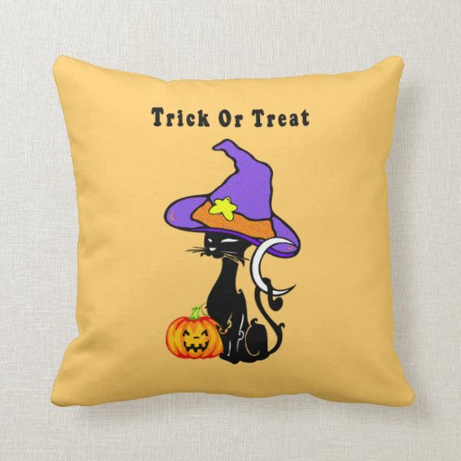 Halloween Trick or Treat Pillow