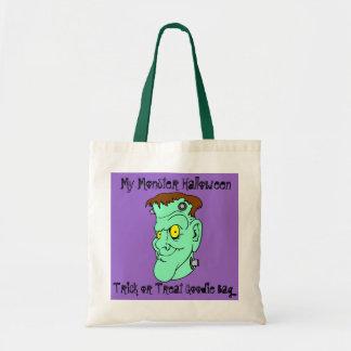 Halloween Trick Or Treat Frankenstein Smiling Tote Bag