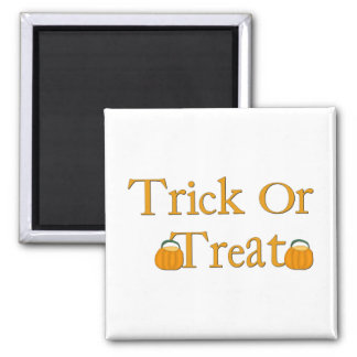 Halloween trick or treat square magnet