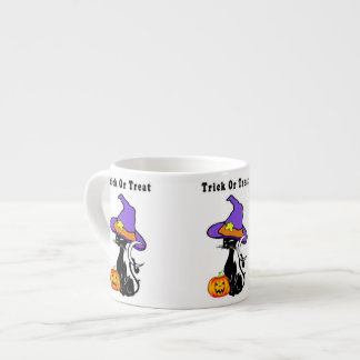 Halloween Trick or Treat 6 Oz Ceramic Espresso Cup