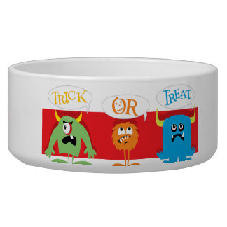 Halloween Trick or Treat Dog Water Bowl