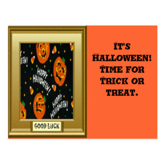 Halloween, Trick or treat Post Cards