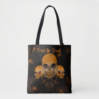 Halloween Trick Or Treat Skull Tote Bag