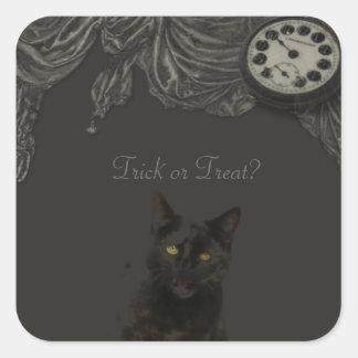 "Halloween "" Trick or Treat "" Square Sticker"