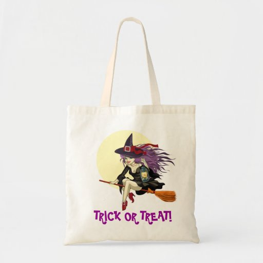 Halloween TRICK OR TREAT Tote Canvas Bag