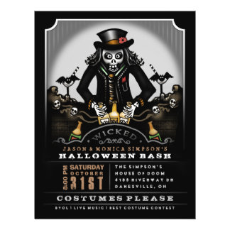 Halloween Wicked Party Bash 8.5 x 11 Flyer