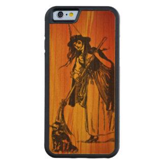 Halloween Witch Cherry wood case