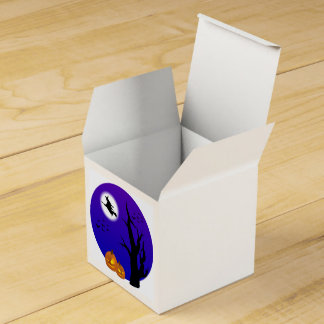 Halloween Witch on Broom Full Moon Treat Box Wedding Favour Boxes