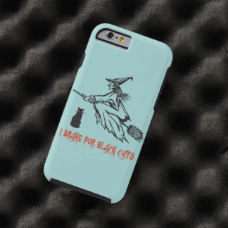 Halloween Witch on Broomstick Tough iPhone 6 Case
