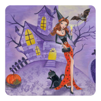 Halloween Witch - Party Invitation