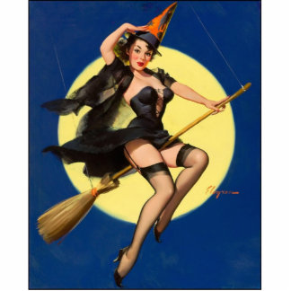 Halloween Witch Pin Up Girl Standing Photo Sculpture