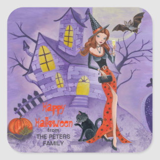 Halloween Witch - Square Stickers
