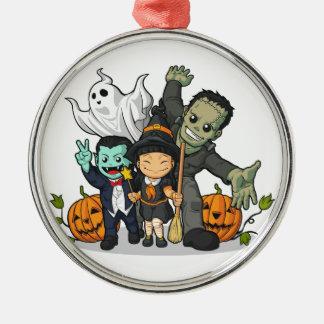Halloween Witch, Vampire, Frankenstein & Ghost Christmas Ornament