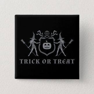 Halloween Witches 15 Cm Square Badge