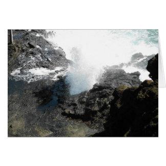 Halona Blow Hole, Oahu, Hawaii Card