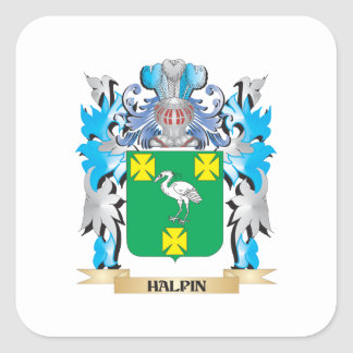 Halpin Coat of Arms - Family Crest Square Sticker