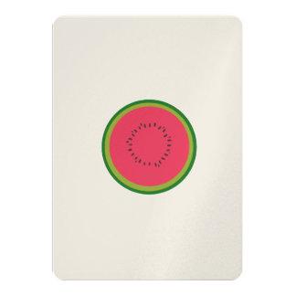halved melon 13 cm x 18 cm invitation card