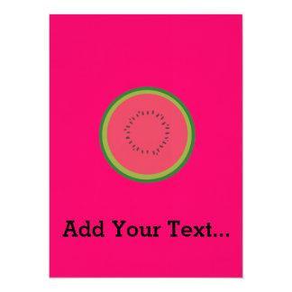 halved melon 14 cm x 19 cm invitation card