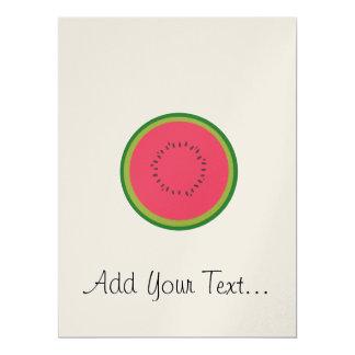halved melon 17 cm x 22 cm invitation card