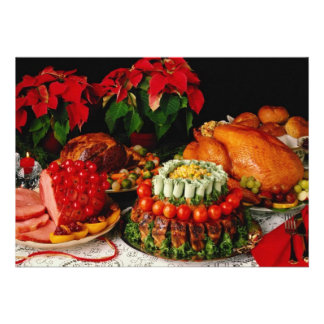 Ham, roast and turkey flowers announcement