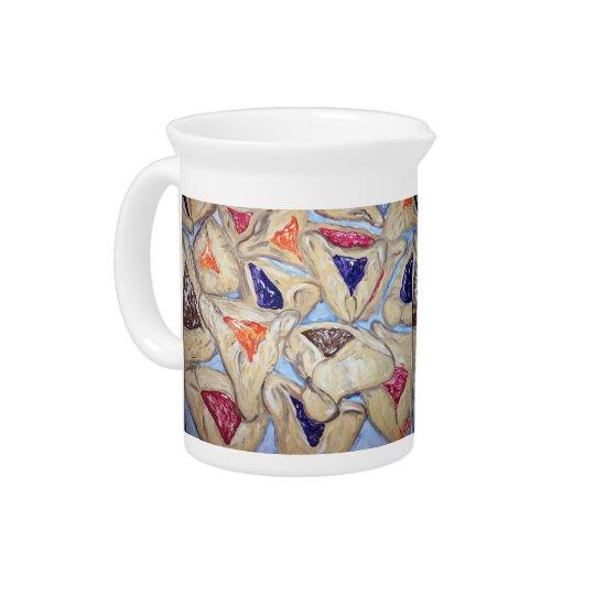 Hamantaschen art pitcher