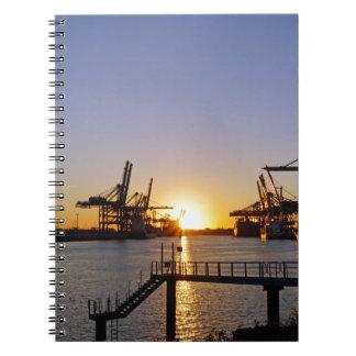 hamburg harbor notebooks